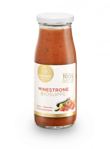 Smart Fasting® Minestrone Biosuppe im Glas zum bequemen Aufkochen   250ml   100% Bio-Qualität   BIO