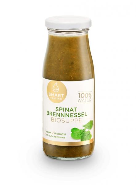Smart Fasting® Spinat Brennnessel Biosuppe im Glas zum Aufkochen | 250ml | 100% Bio-Qualität | BIO D