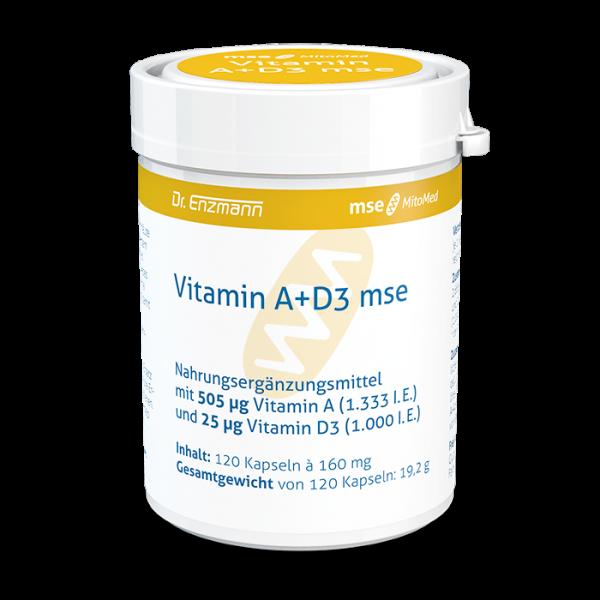 Vitamin A+D3 mse mit 505 µg Vitamin A (1.333 I.E.) und 25 µg Vitamin D3 (1.000 I.E.)