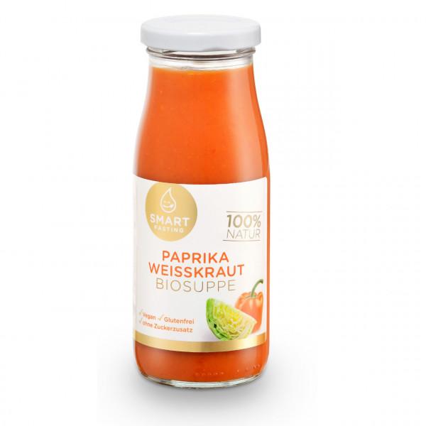Smart Fasting® Paprika-Weisskraut Biosuppe im Glas zum Aufkochen | 250ml | 100% Bio-Qualität